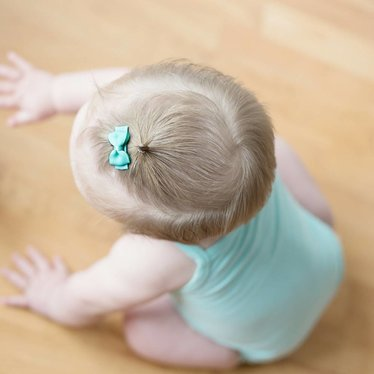 Your Little Miss Baby haarspeldjes met strik mintgroen