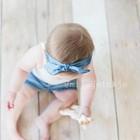 Your Little Miss Baby haarbandje met knoop denim