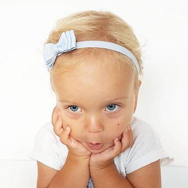 Your Little Miss Bluebell baby haarbandje met dubbele strik