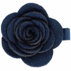 Your Little Miss Haarspeld met donkerblauwe vilten bloem