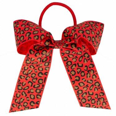 Your Little Miss Haarstrik  met elastiek red leopard