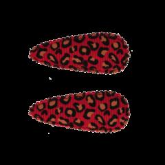 Your Little Miss Baby haarspeldjes met leopard print red