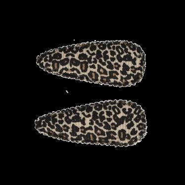 Your Little Miss Baby haarspeldjes met leopard print tan