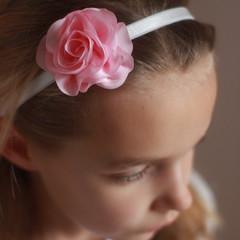 Your Little Miss Meisjes haarbandje met bloem