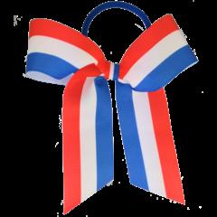 Your Little Miss Haarelastiek met grote strik - Dutch flag