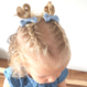 Your Little Miss Setje baby haarspeldjes met satijnen strik dandelion blue