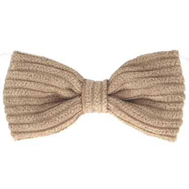 Your Little Miss Haarspeldje beige rib