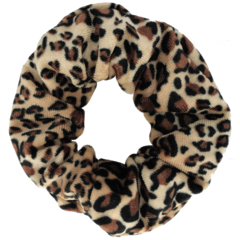 Your Little Miss Velvet scrunchie leopard