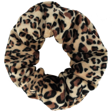 Your Little Miss Velvet scrunchie leopard