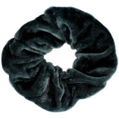 Your Little Miss Velvet scrunchie dark grey
