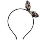Your Little Miss Zwarte diadeem met leopard strik
