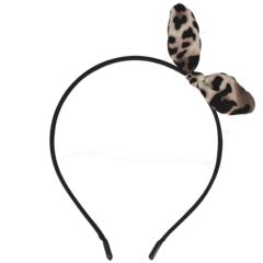 Your Little Miss Zwarte diadeem met leopard strik