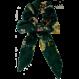 Your Little Miss Scrunchie flower bow green