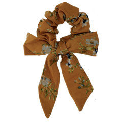 Your Little Miss Scrunchie flower bow yellow