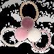 Your Little Miss Setje van 3 kleine elastiekjes met pompom sweet