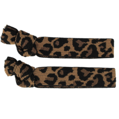 Your Little Miss Setje van 2 leopard  elastiekjes camel