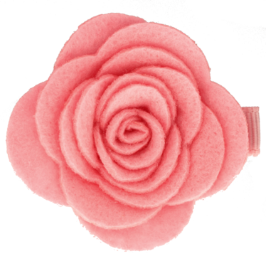 Your Little Miss Roze haarspeld met vilten bloem pink