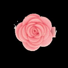 Your Little Miss Roze baby haarspeld met vilten bloem pink