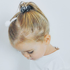 Your Little Miss Mini scrunchie leopard black