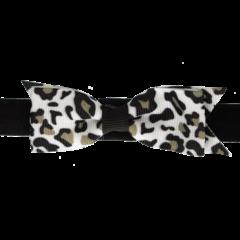 Your Little Miss Baby haarbandje met strik zwart leopard
