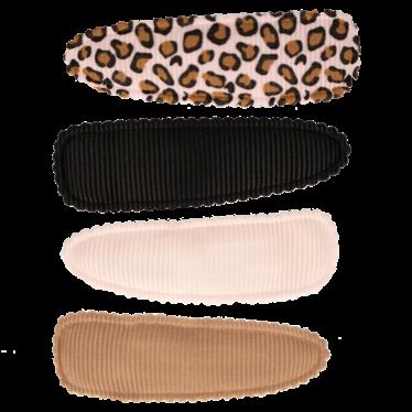 Your Little Miss Setje meisjes haarspeldjes pink leopard basics