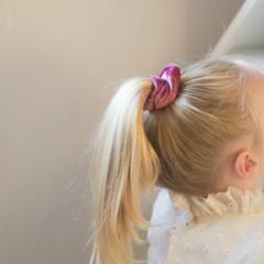 Your Little Miss Velvet scrunchie plum