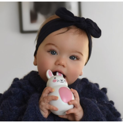 Your Little Miss Baby haarbandje met knoop navy