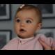 Your Little Miss Baby haarspeldjes met strik dusty pink & leather