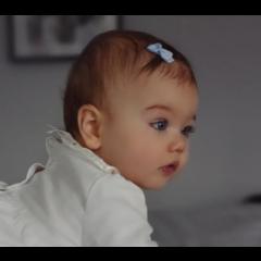 Your Little Miss Bluebell baby haarspeldjes met strik