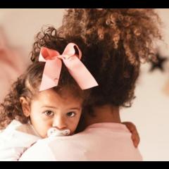 Your Little Miss Haarstrik met elastiek pink