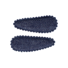 Your Little Miss Basic mini haarspeldjes denim