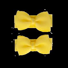 Your Little Miss Baby haarspeldjes met strik lemon