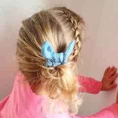 Your Little Miss Mini scrunchie denim bow