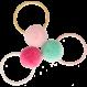 Your Little Miss Setje van 3 kleine elastiekjes met pompom spring
