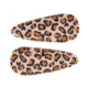 Your Little Miss Leopard print baby haarspeldjes champagne