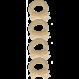 Your Little Miss Setje van 4 kleine elastiekje ivoor