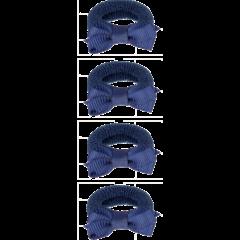 Your Little Miss Setje van 4 kleine elastiekjes blauw