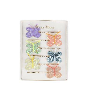 Meri Meri Setje glitter vlinders schuifspeldjes van Meri Meri