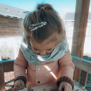 Your Little Miss Haarspeldje marmer grey