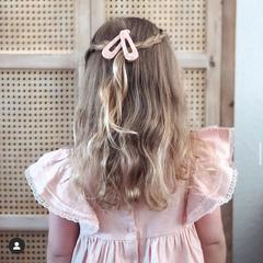 Your Little Miss Haarspeldje marmer pink