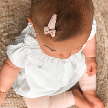 Your Little Miss Setje baby haarspeldjes met strik powder tones