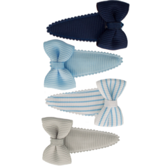 Your Little Miss Setje baby haarspeldjes met strik blue stripes