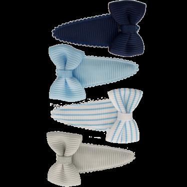 Your Little Miss Setje baby haarspeldjes met strik blue stripes