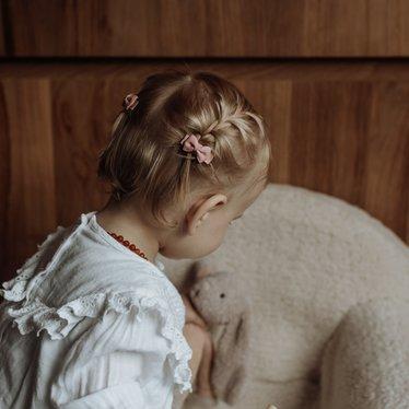 Your Little Miss Baby haarspeldjes met strik dusty rose