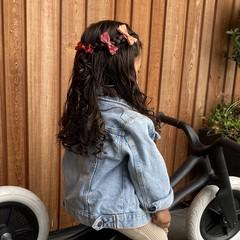 Your Little Miss Setje haarspeldjes met strik pink tones