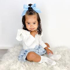 Your Little Miss Haarstrik met elastiek french blue