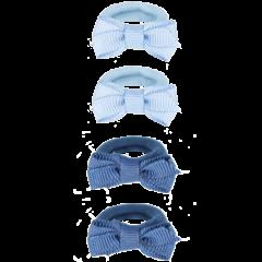 Your Little Miss Setje van 4 kleine elastiekjes blue tones