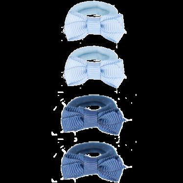 Your Little Miss Setje van 4 kleine elastiekje blue tones