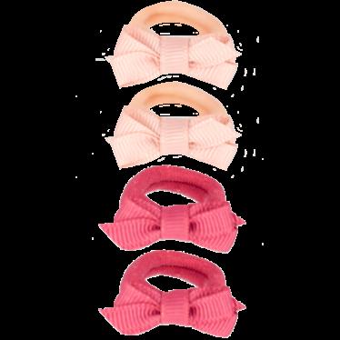 Your Little Miss Setje van 4 kleine elastiekjes pink tones