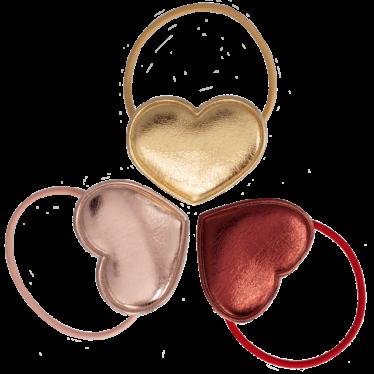 Your Little Miss Setje van 3 grote elastiekjes met hart
